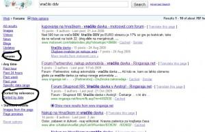 Google iskanje po forumih deluje