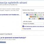 Wordpress feed z feedburnerjem