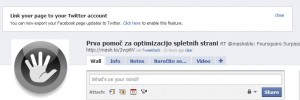 Facebook izvoz na Twitter