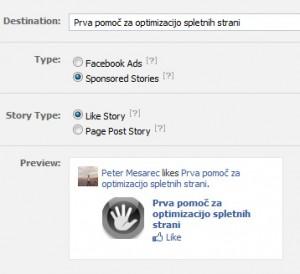 Novo Facebook oglaševanje