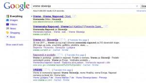 Pop-up po kliku +1 v Google SERP