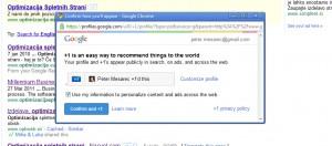 Google iskalni rezultati z +1