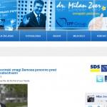 Milan Zver za predsednika s slabo spletno stranjo