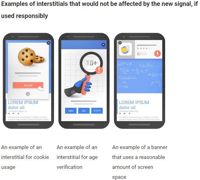 google update za pop up okna - dovoljene tehnike