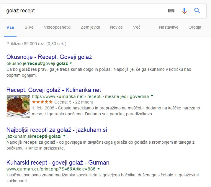rich snippets recepti